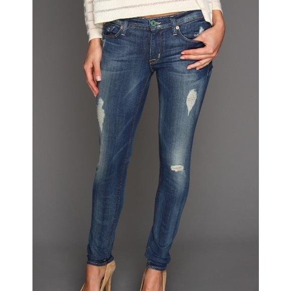9e7f6467 Hudson Jeans Pants | Hudson Krista Super Skinny Distressed Denim ...